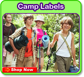 camp labels - kids name labels