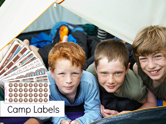 summer camp labels
