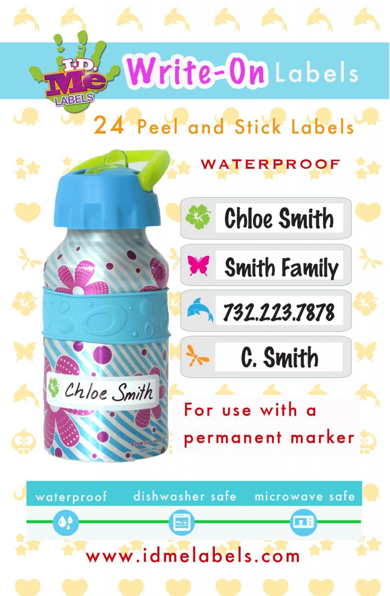 New write on waterproof labels by i d me id me name labels