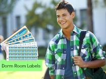 Dorm Room Labels